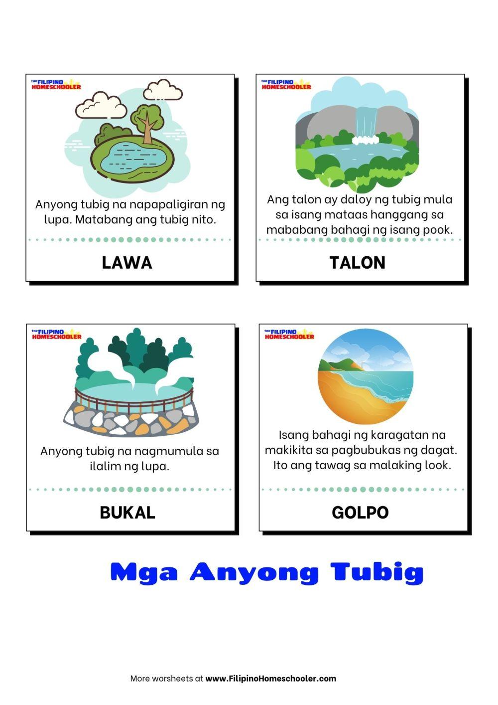 medium resolution of Anyong Tubig at mga Halimbawa — The Filipino Homeschooler