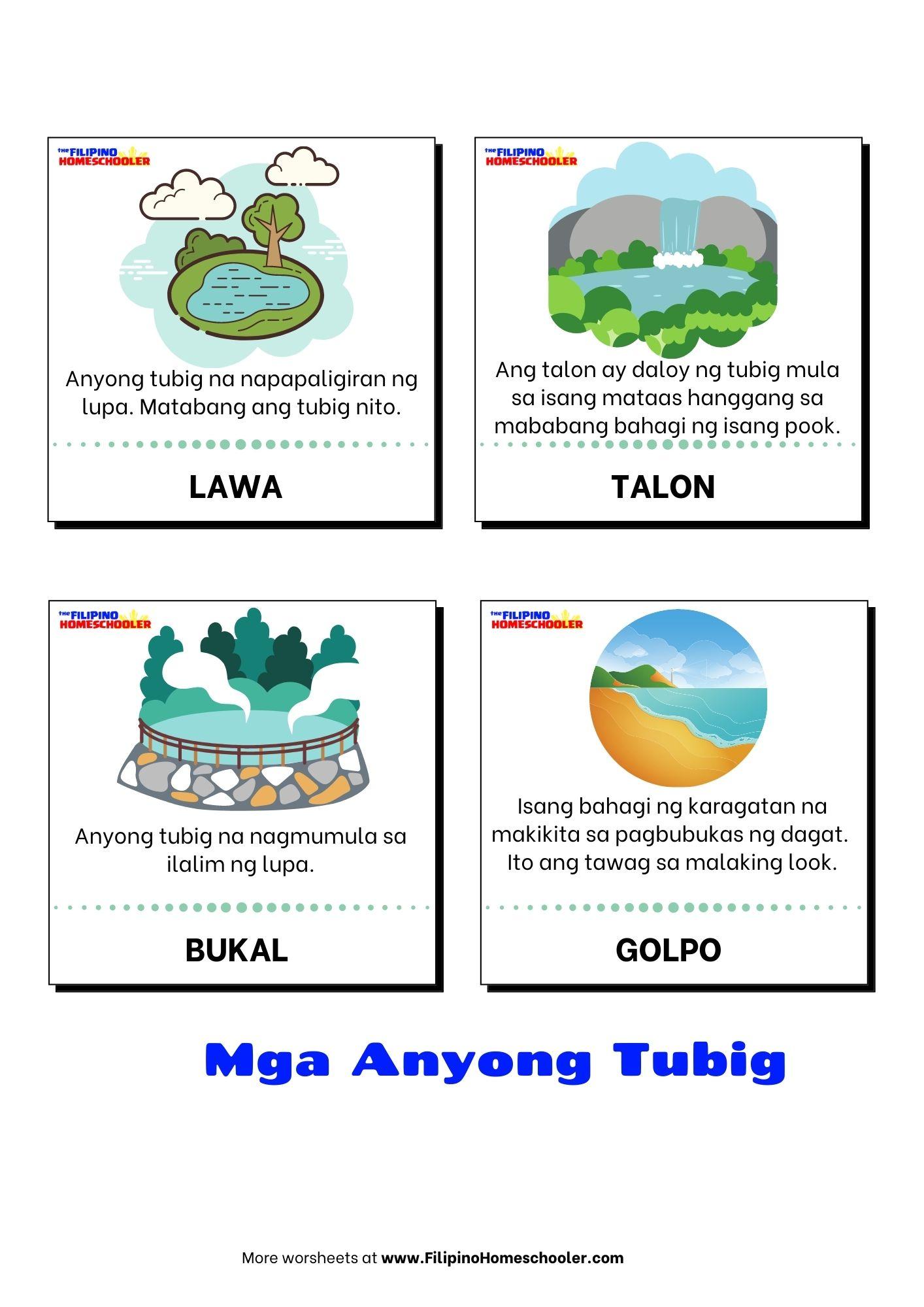 hight resolution of Anyong Tubig at mga Halimbawa — The Filipino Homeschooler