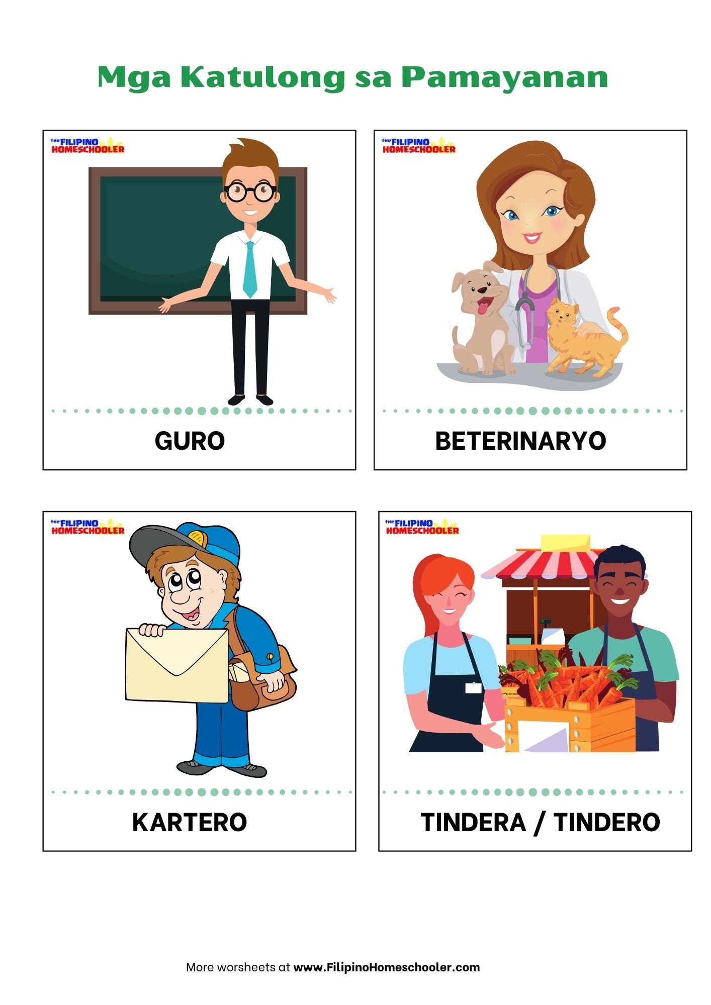 hight resolution of Mga Katulong sa Pamayanan — The Filipino Homeschooler