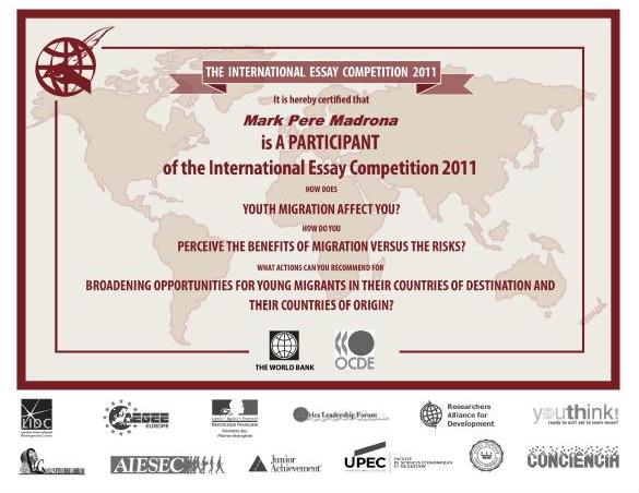 World essay competition 2012