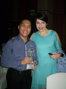 The writer with Ms Pia Arroyo-Magalona