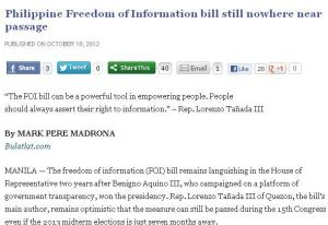 freedom of information bill - bulatlat