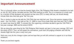 philippine web awards 2013