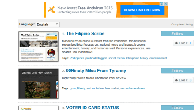 political blogs philippines 2015