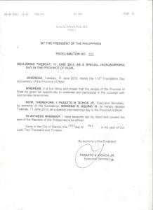proclamation 583 - rizal