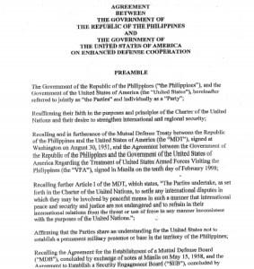 Enhanced Defense Cooperation Agreement