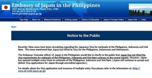 japan no visa for filipinos