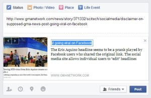 edit the headline of articles on Facebook