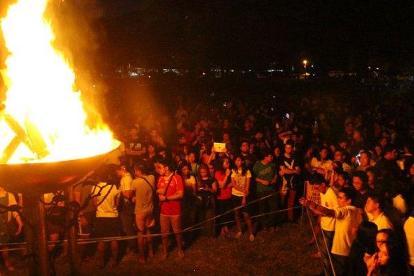 UP Diliman bonfire