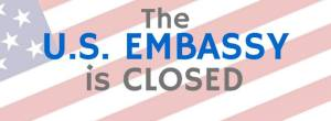 US embassy manila closed