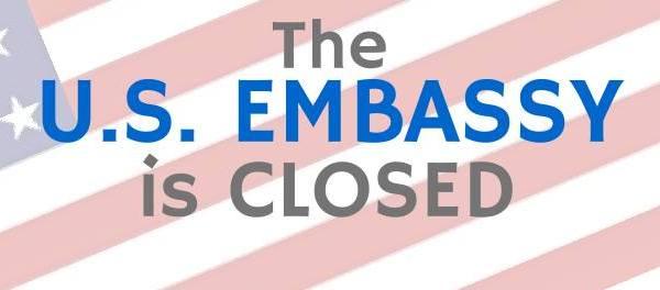 US embassy manila closed
