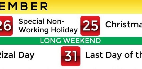 december 24 2014 philippine holiday