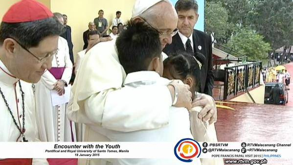PREPARED REMARKS: Pope Francis during the Encounter with the Youth – January 18 2015