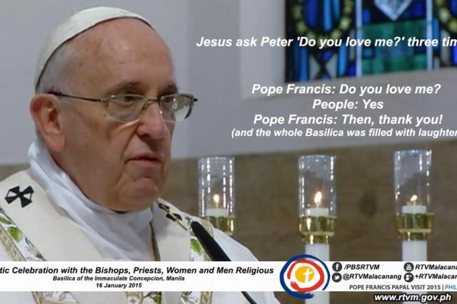 FULL TEXT: Pope Francis homily during the Holy Mass in Manila Cathedral