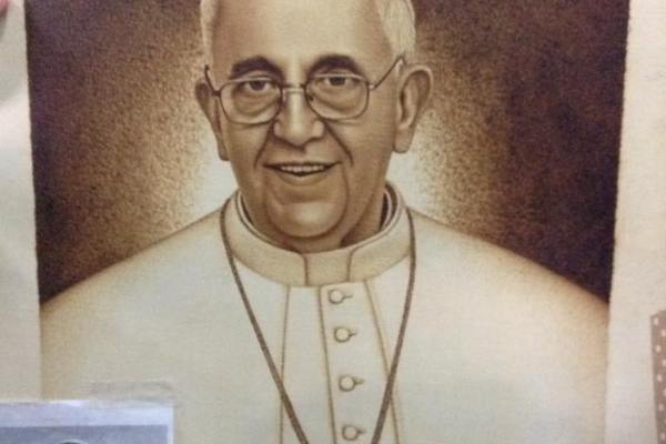 pope francis portrait inmate