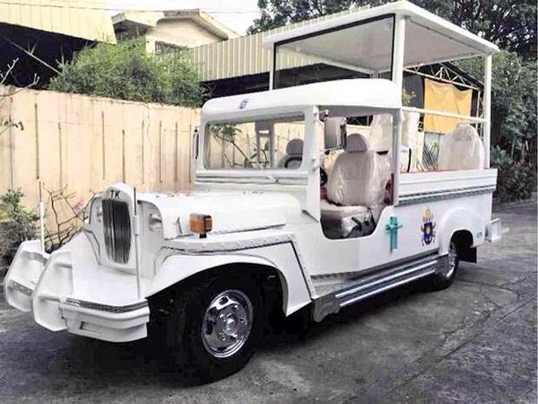 SEE IT HERE: Jeepney-inspired popemobile for Pope Francis' Philippine visit