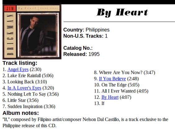 jim brickman by heart album 1995