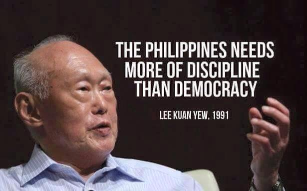 lee kuan yew on the philippines