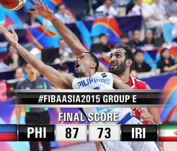 Gilas Pilipinas destroys Iran, 87 to 73; takes lead in Group E