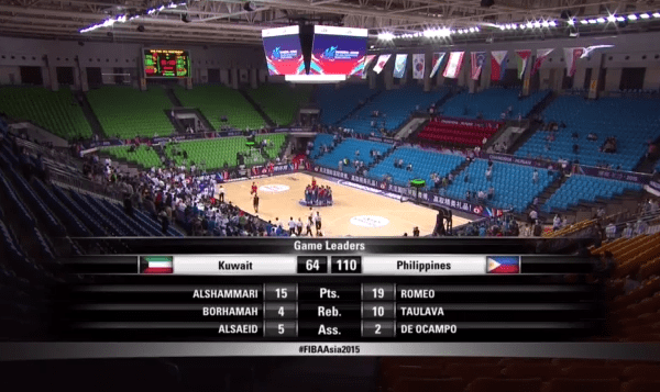 Gilas Pilipinas crushes Kuwait, advances to 2nd round of 2015 FIBA Asia championship