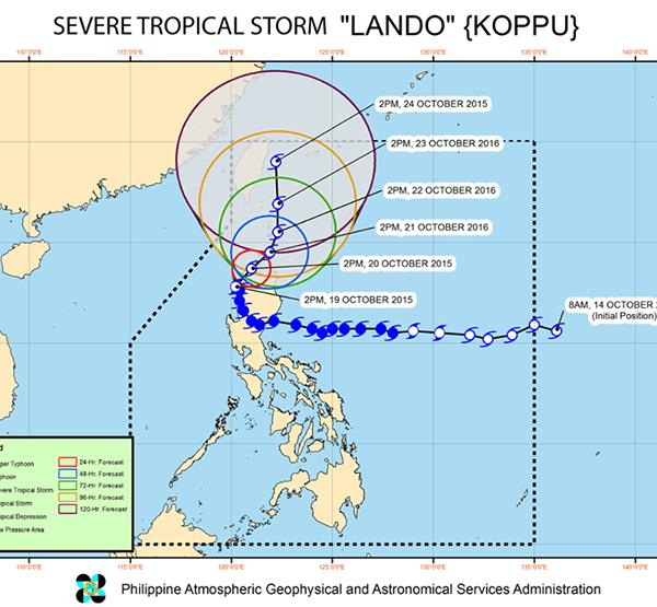 #WalangPasok – Class suspensions for October 20 2015 due to Typhoon 'Lando'