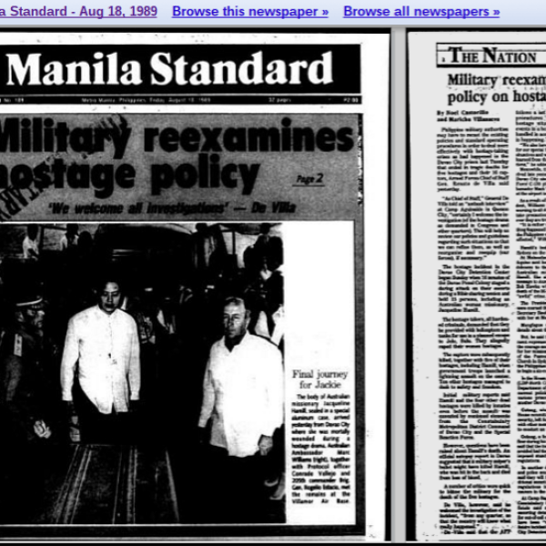 Who was Jacqueline Hamill, the subject of Rodrigo Duterte's 'rape joke'?