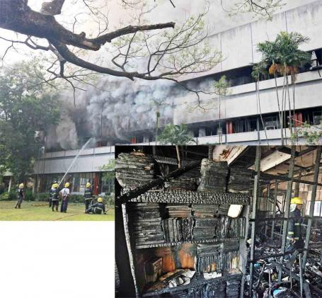 UP Diliman Faculty Center fire