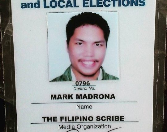 #BotongPinoy2016 – COMELEC grants media accreditation for The Filipino Scribe