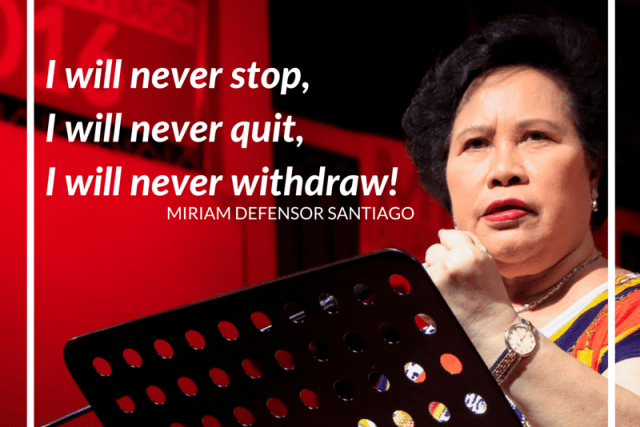 ENDORSEMENT: Miriam Defensor-Santiago for president