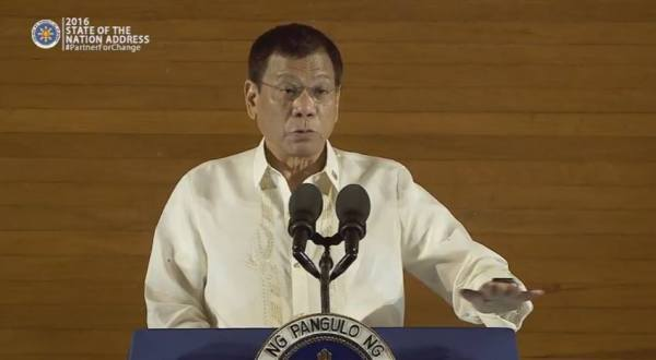 rodrigo duterte 2016 state of the nation address