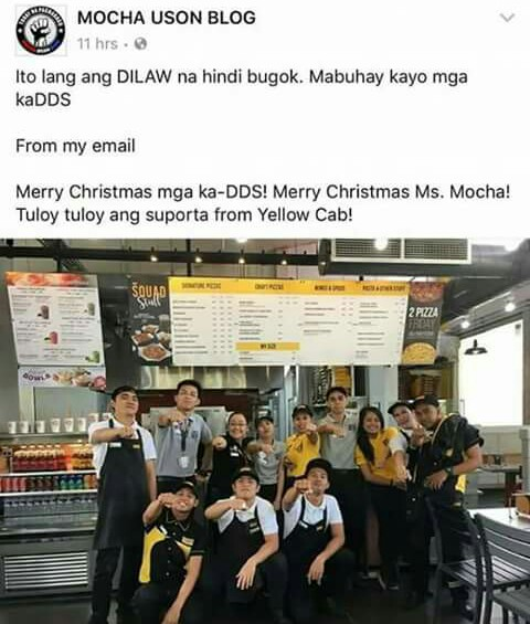 yellow cab mocha uson duterte