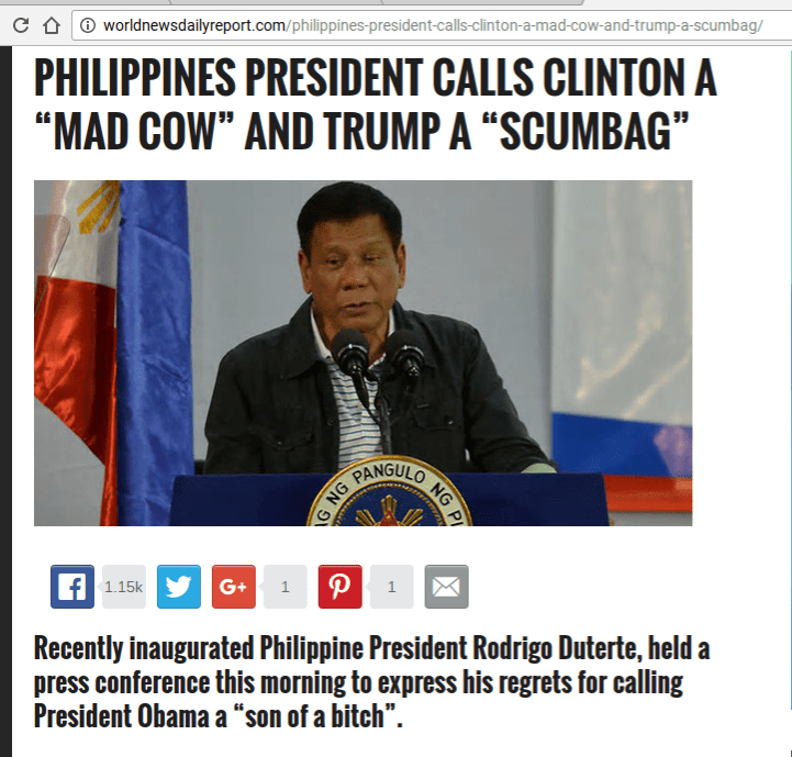 fake news websites in the philippines