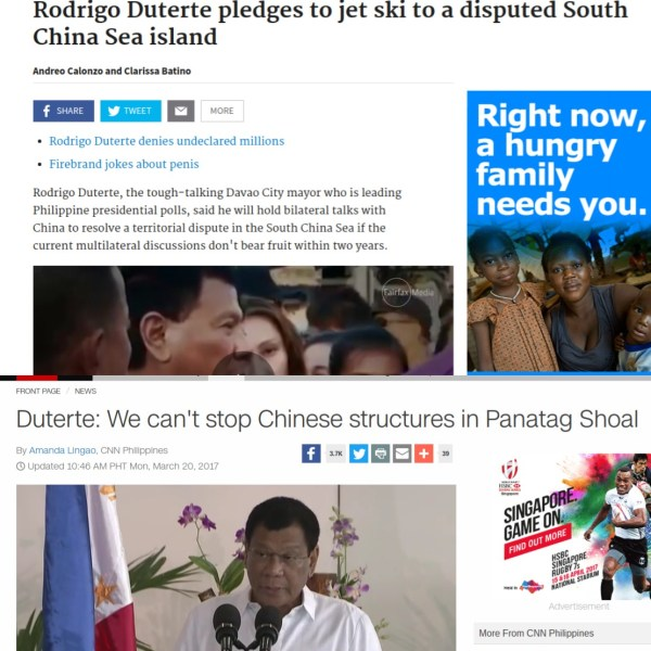 Duterte's confused policy toward China, in two quotes