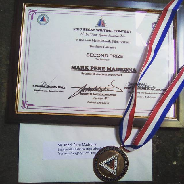 mark pere madrona award-winning writing writer