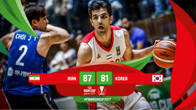iran vs south korea FIBA