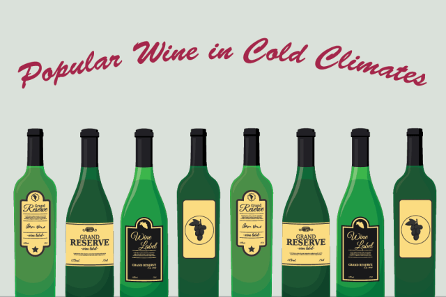 Four popular wines during cold climates