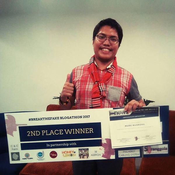 The Filipino Scribe wins in the first-ever #BreakTheFake Blogathon 2017