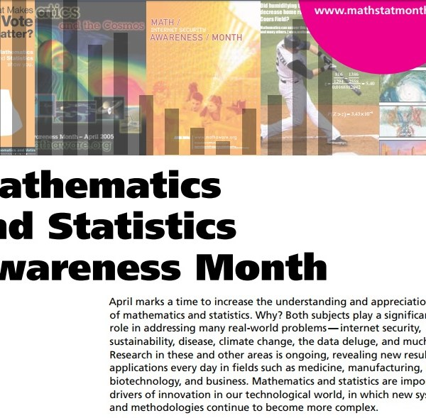 "Mathematics month theme 2017: ""Mathematics and Statistics."""