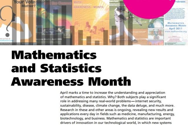 "Mathematics month theme 2017: ""Mathematics and Statistics."""