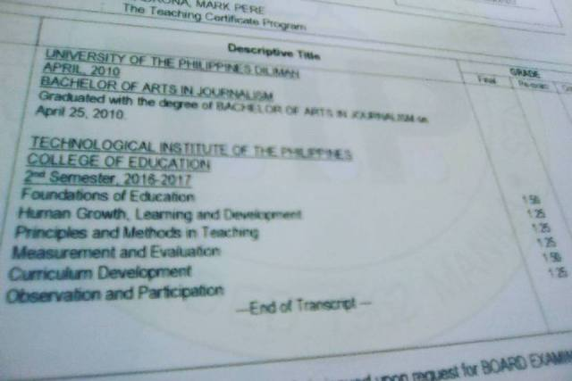 Teaching certificate program in the Philippines