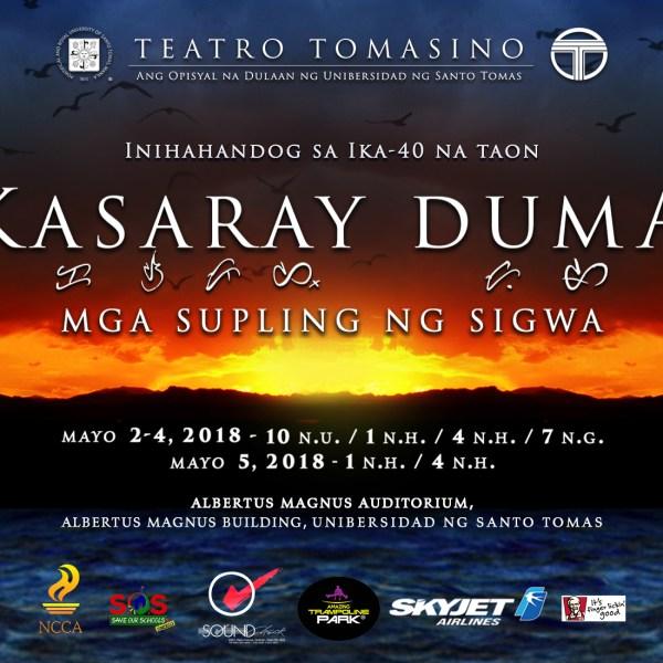 "Teatro Tomasino presents ""Kasaray Duma"" this May 2018"