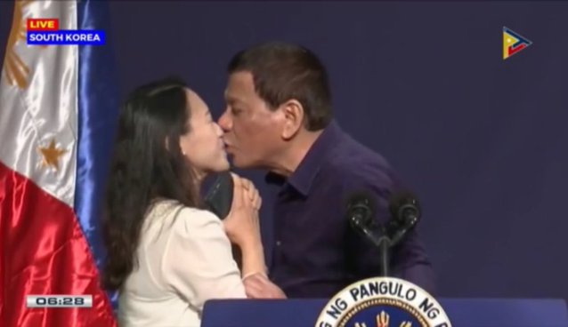 duterte kisses female OFW