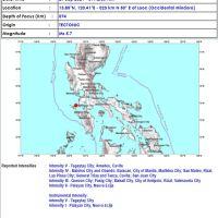 #EarthquakePH - Magnitude 5.7 quake jolts parts of Luzon, Metro Manila