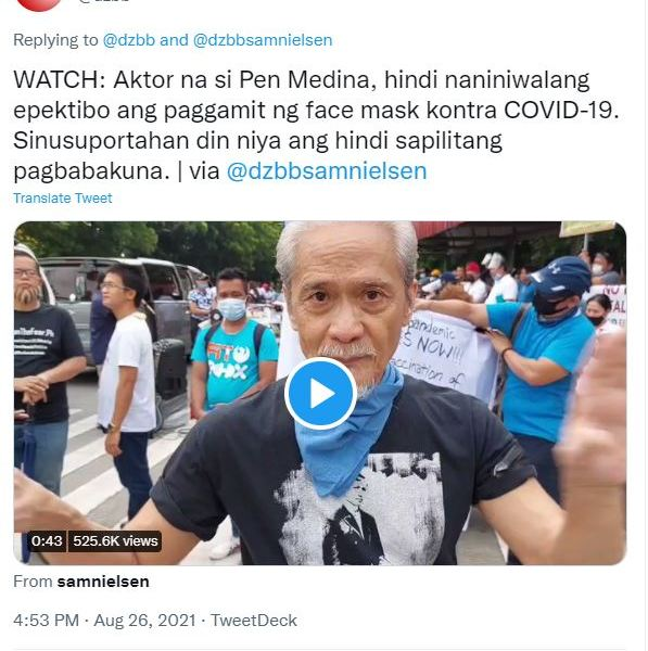 The media should stop giving platform to anti-maskers and anti-vaxxers like Pen Medina and Derek Ramsay
