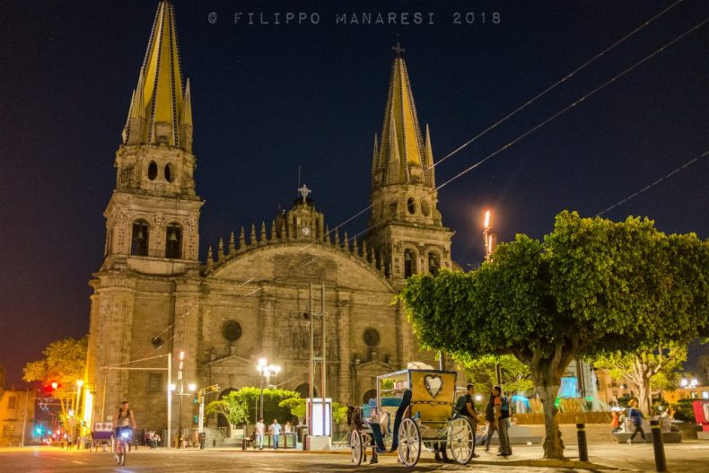 Guadalajara, Jalisco, Mexico, Cathedral, carriage, coach, church