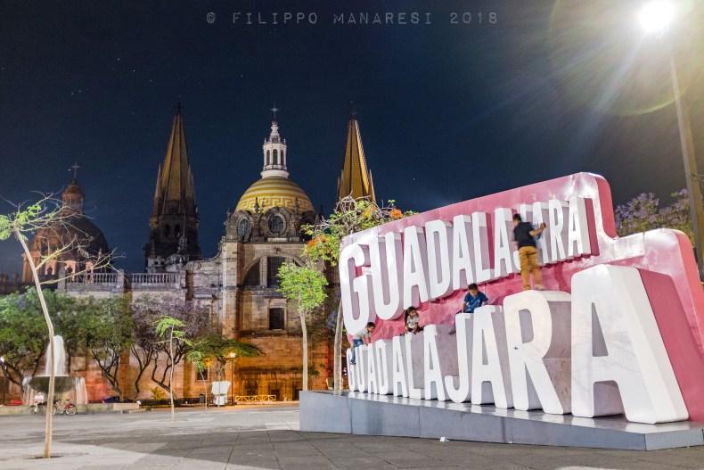 Guadalajara, Mexico, square, kids, cathedral, Plaza de la Liberación