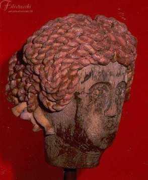 Parrucca in gommapiuma pettinatura greca