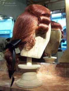 Parrucca in capelli rossi stile '700 da uomo art 700urof