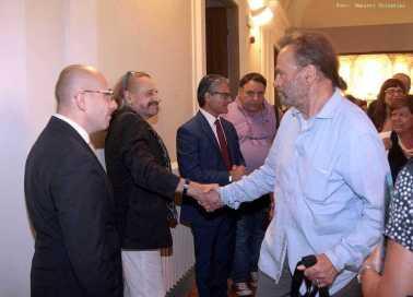 Un momento della presentazione della Fondazione Zeffirelli con Franco Nero
