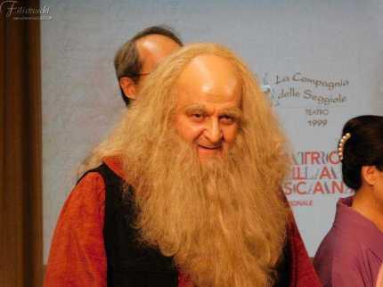 Fabio Baronti, nei panni di Leonardo da Vinci dopo lo spettacolo di Nara